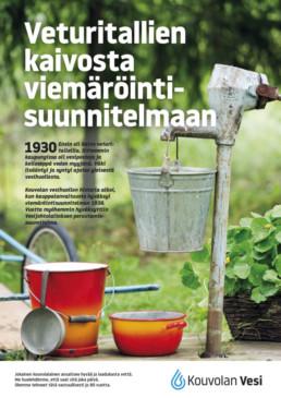 1930-luvulla alkoi Kouvolan vesihuollon historia, viemäröintisuunnitelmasta ja vesijohtolaitoksen perustamisesta.