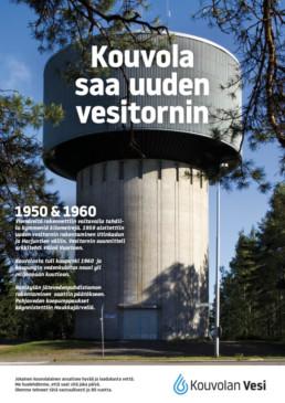 1959 alkoi Utinkadun ja Harjutien väliin vesitornin rakentaminen. Kouvolan vedenkulutus nousi yli miljoonaan kuutioon.