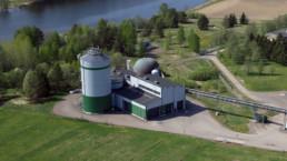 Ilmakuva Mäkikylän biokaasulaitoksesta.