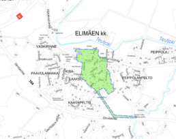 Suunnittelukohde Elimäki 1 kartalla