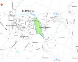 Suunnittelukohde Elimäki 2 kartalla