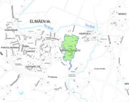 Suunnittelukohde Elimäki 3 kartalla