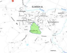 Suunnittelukohde Elimäki 4 kartalla