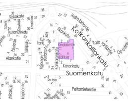 Käkikuja-Kimalaisentien investointikohde kartalla
