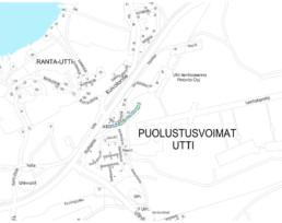 Lentoportin tien investointikohde kartalla