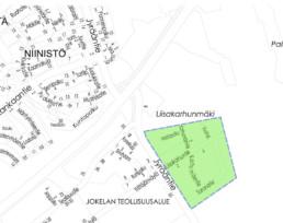 Suunnittelukohde Liisakarhunmäki kartalla