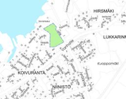 Suunnittelukohde Nurmiranta kartalla
