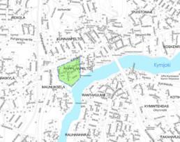 Suunnittelukohde Pappilanpelto kartalla