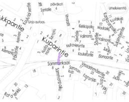 Sammonpolku investointikohde kartalla