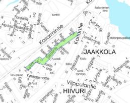 Suunnittelukohde Sarkalantie kartalla