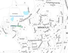 Suunnittelukohde Vikenpolku kartalla